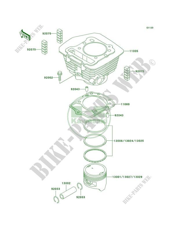 Kawasaki Prairie 300 Engine Manual