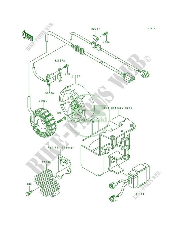 Generator Kawasaki Bayou 300 4x4 1991 300 Klf300-c3 20820 Kawasaki