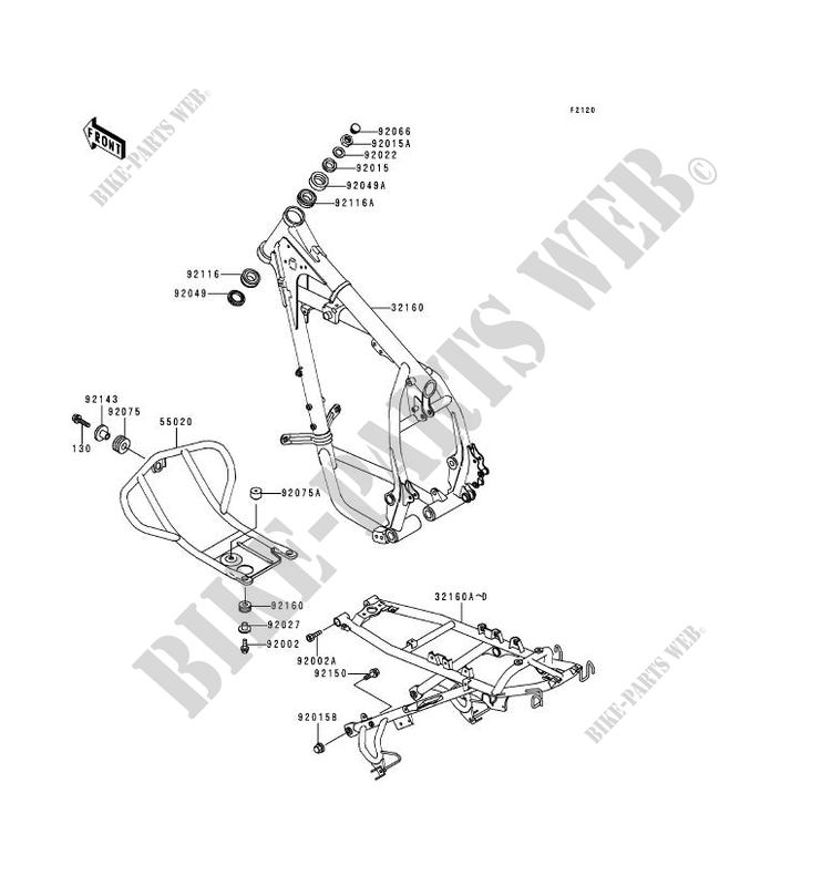 Kfx 700 Fuel Pump Wiring Harness Diagram furthermore Klr 650 Fairing also Chevy Truck Front End Parts Diagram together with Partslist besides E 03. on klr 650 frame