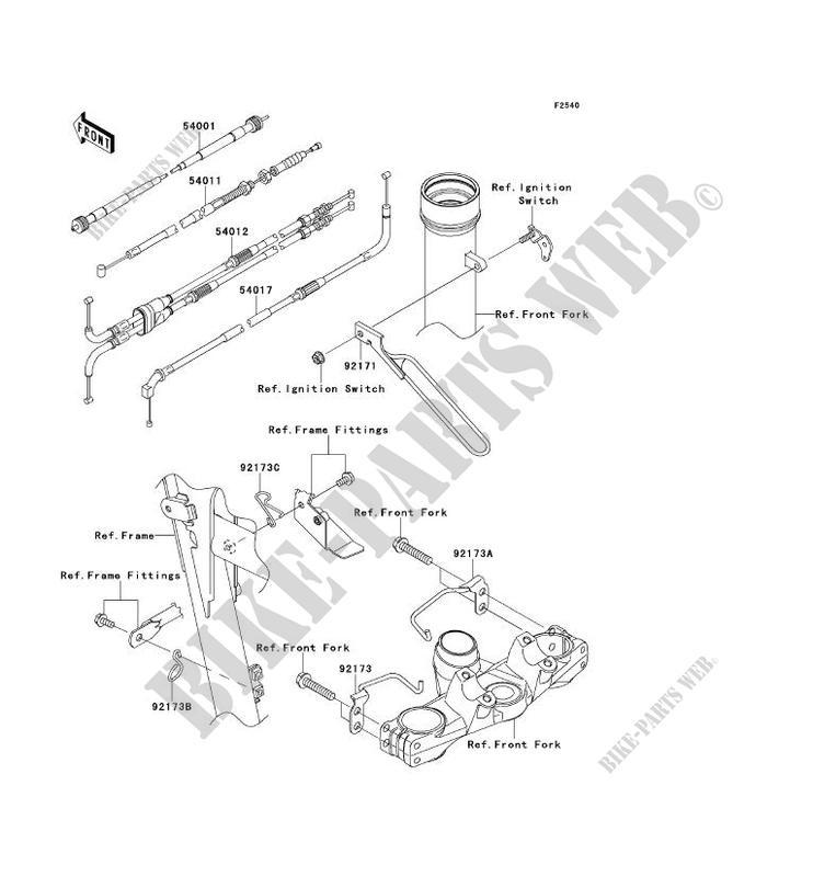 cables kl650ecf klr650 2012 650 motos kawasaki moto
