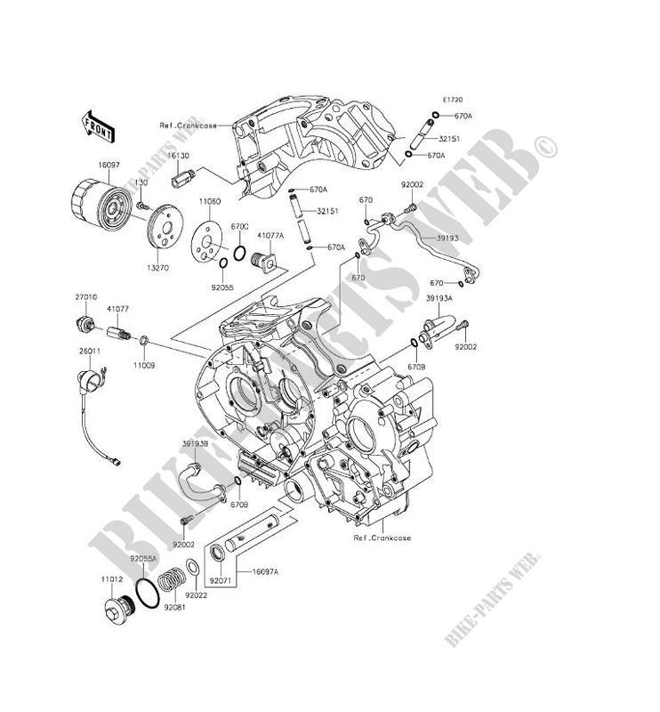 filtre a huile vn900bff vulcan 900 classic 2015 900 motos