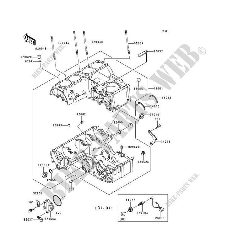 carter moteur s  kawasaki zephyr 750 1991 750 zr750