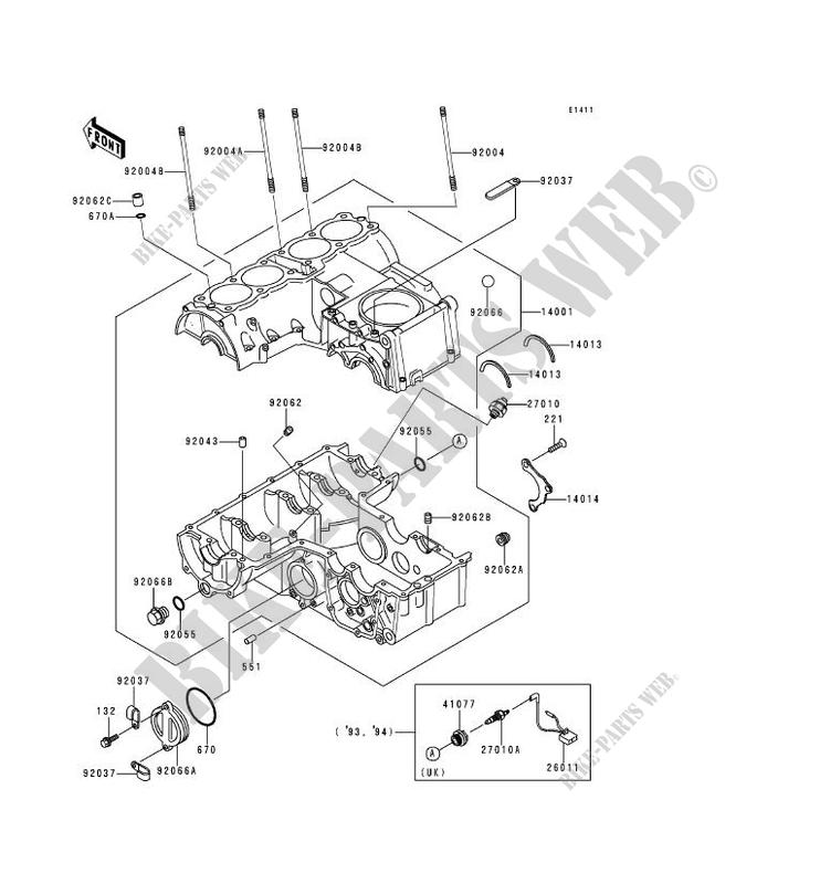 carter moteur s  kawasaki zephyr 750 1992 750 zr750