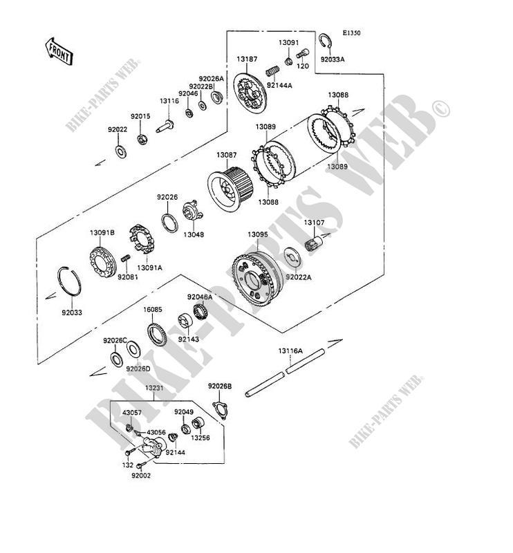 embrayage zx1100 c2 zzr1100 1991 1100 motos kawasaki moto kawasaki catalogue de pi ces. Black Bedroom Furniture Sets. Home Design Ideas