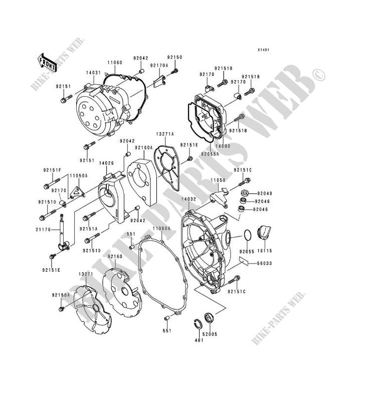 couvercles moteur zx900 c2 ninja zx 9r 1999 900 motos