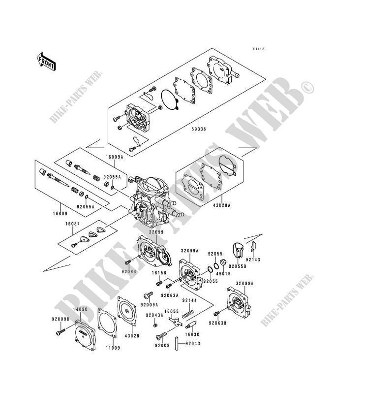 pieces de carburateur jt900 a2 jet ski 900 stx 1998 900