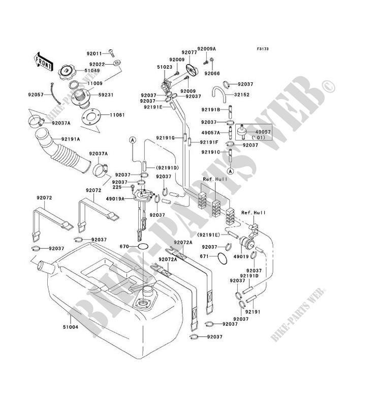 reservoir carburant jt900 c1 jet ski 900 stx 2001 900 jet