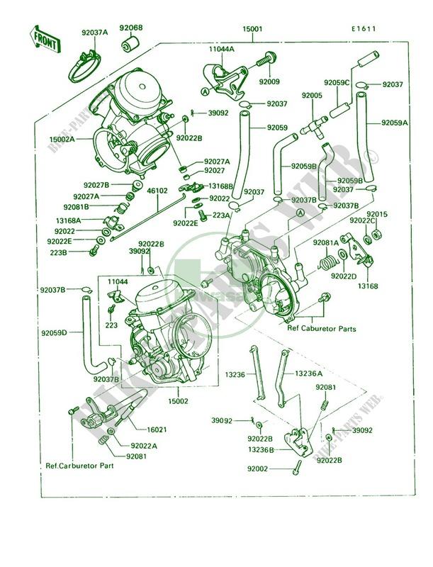 Carburetor Kawasaki Vulcan 750 1993 750 Vn750