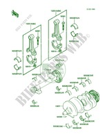 Crankshaft pour Kawasaki 454 LTD 1986