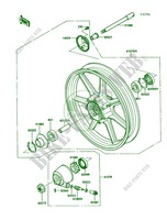 Front Wheel pour Kawasaki 454 LTD 1986